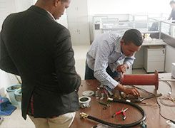 Testing for technical engineers in Sudan to check training results